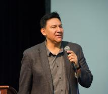 Dr. Daryl Tonemah at Resilience Talk in May 2019