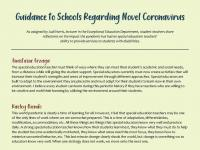 guidance to schools regarding novel coronavirus blog pic