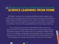 Science learning at home flyer